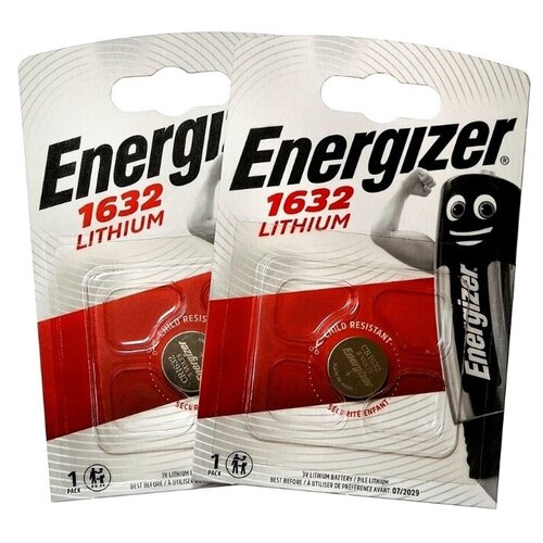 Фото - Батарейка Energizer CR1632, 1 шт., 2 уп. батарейка energizer max plus aa 4 шт