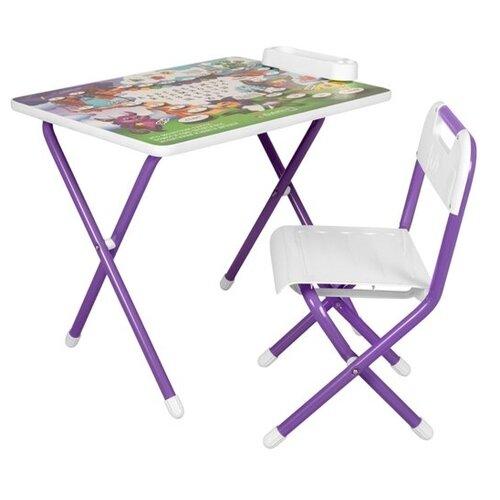 Купить Комплект ДЭМИ стол + стул №3/1 58x45 см сиреневый Монстры, Парты и столы