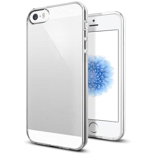 Тонкий силиконовый чехол для Apple iPhone 5, 5S и SE / Прозрачный чехол накладка на Эпл Айфон 5, 5С и СЕ / Ультратонкий чехол премиум с защитой от прилипания