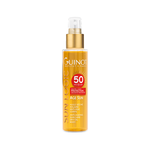 Купить Guinot Масло Huile Seche Solaire SPF 50 Антивозрастное Сухое для Тела с Высокой Степенью Защиты SPF 50, 150 мл