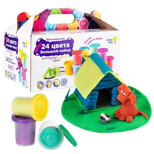 Купить GENIO KIDS-ART Набор для детской лепки Тесто-пластилин , 24 баночки, Пластилин и масса для лепки