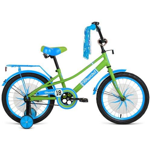 Детский велосипед FORWARD Azure 18 (2021) зеленый/голубой (требует финальной сборки)