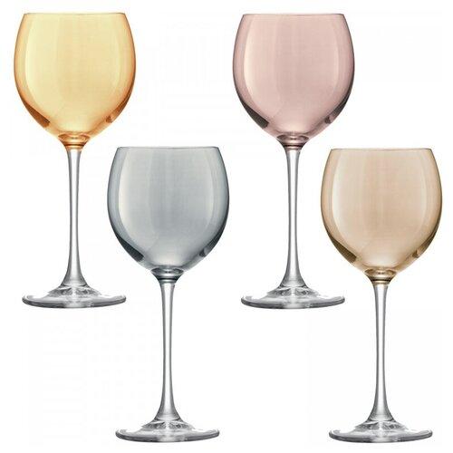 Бокал для вина Polka 4 шт. металлик LSA G932-14-960 бокал для белого вина pearl 4 шт lsa g1332 12 401