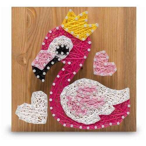 Купить Набор для творчества Стринг Арт. Фламинго, String Art Lab, Поделки и аппликации