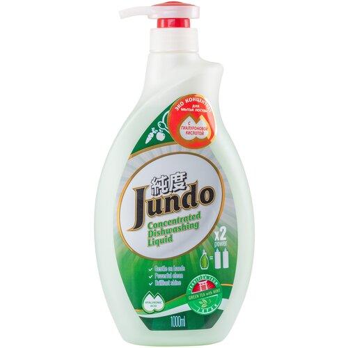 Jundo средство для мытья посуды и детских принадлежностей с гиалуроновой кислотой Green tea with mint, 1 л гель для мытья посуды и детских принадлежностей jundo sakura с гиалуроновой кислотой концентрат 1 л