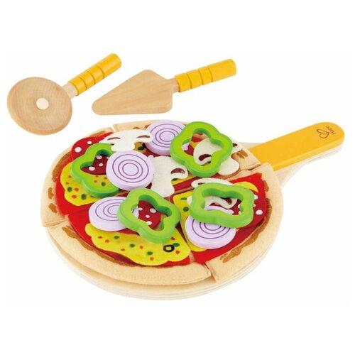 Набор продуктов с посудой Hape Homemade pizza E3129 разноцветный