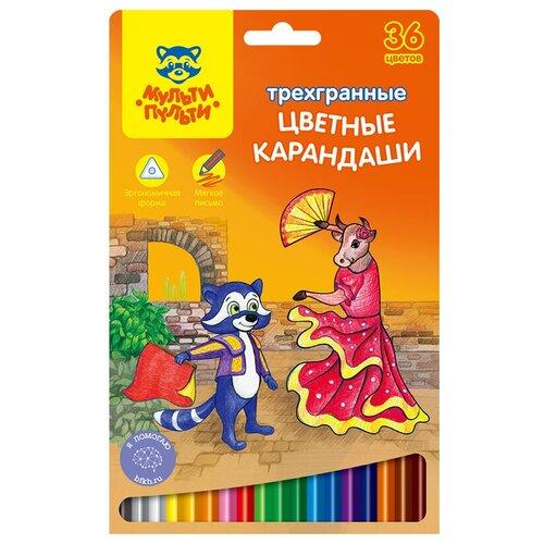 Мульти-Пульти Карандаши цветные Енот в Испании 36 цветов (CP_10825) мульти пульти карандаши цветные енот в испании 24 цвета cp 10758