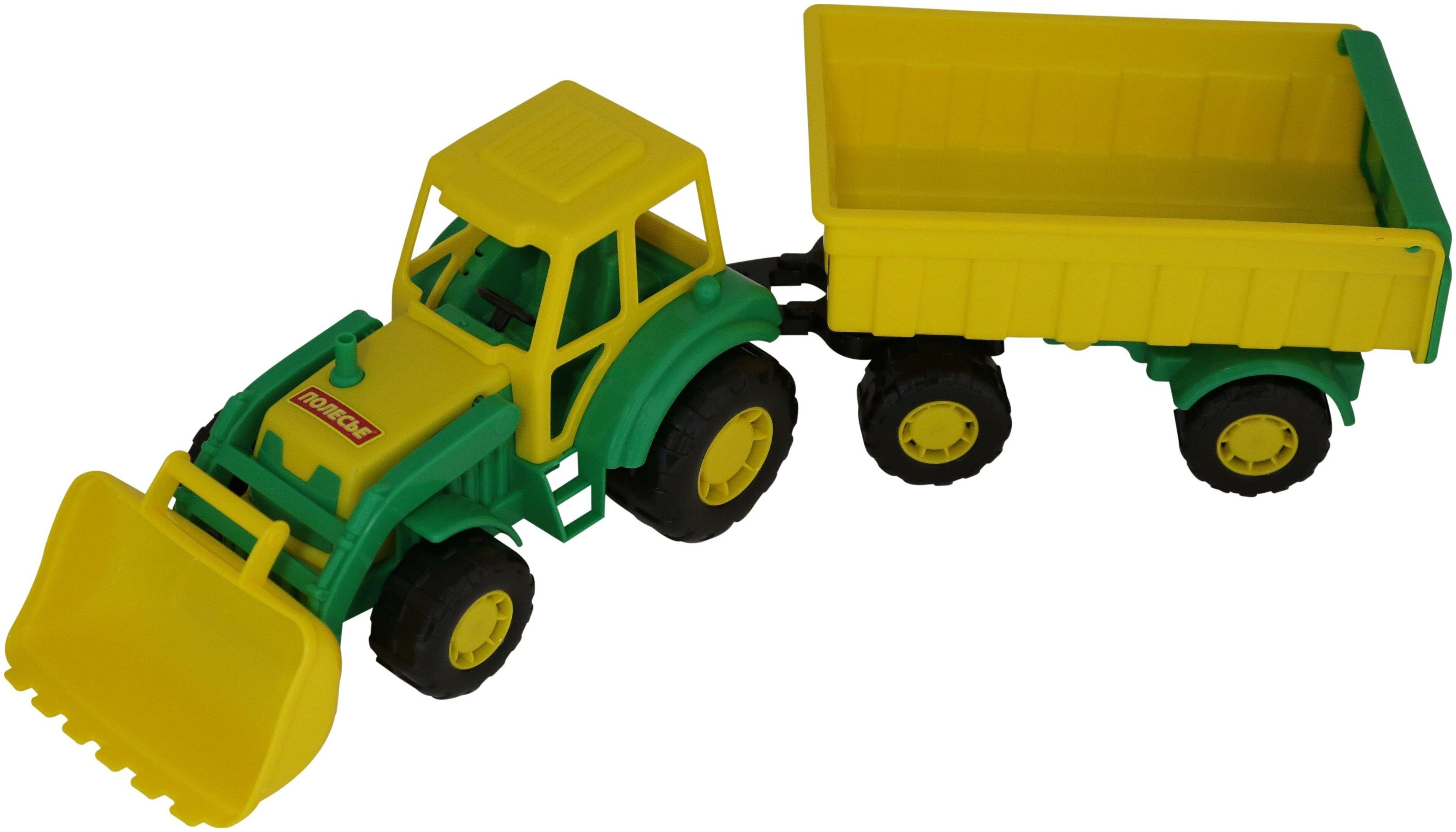 Трактор Полесье Мастер с прицепом №1 и ковшом (35264), 51 см — купить по выгодной цене на Яндекс.Маркете