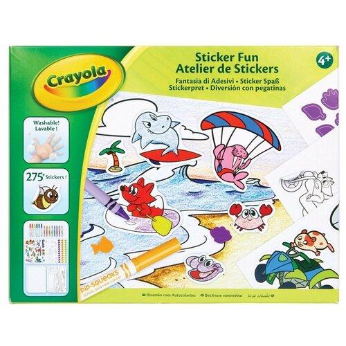 Купить Детский набор для творчества Crayola 04-0577 со стикерами, Раскраски