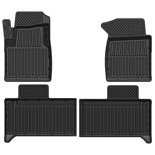 Резиновые 3D Standart коврики в салон SRTK для УАЗ Patriot 2 поколение рестайлинг [2016-...], УАЗ Patriot 2 поколение [2014-2016]