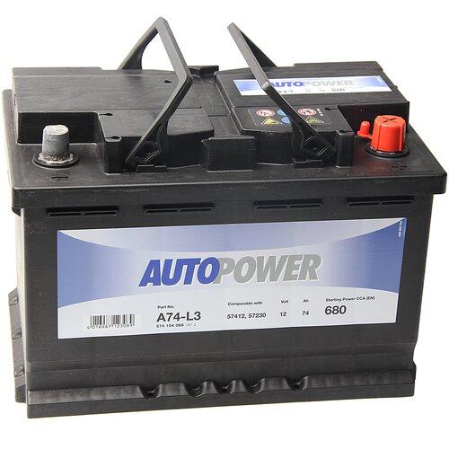 Автомобильный аккумулятор Autopower A74-L3