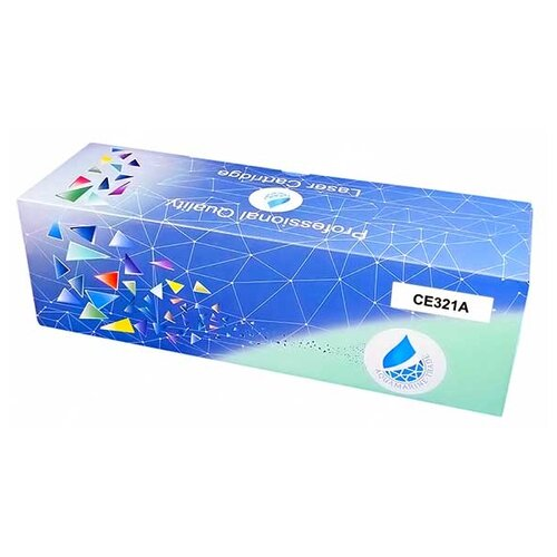 Фото - Картридж Aquamarine CE321A (совместимый с HP CE321A / HP 128A), цвет - голубой, на 1800 стр. печати картридж aquamarine cb541a совместимый с hp cb541a hp 125a цвет голубой на 1800 стр печати