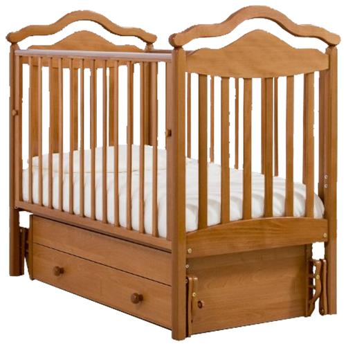 Кровать детская GANDYLYAN К-2005-1м Анжелика маятник универсальный (вишня) gandylyan кроватка gandylyan дашенька маятник универсальный орех