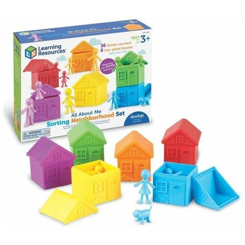 Купить Набор фигурок Моя семья, с домиками для сортировки (42 элемента) Learning Resources, Настольные игры
