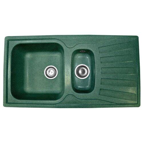Врезная кухонная мойка 94 см А-Гранит M-09K зеленый