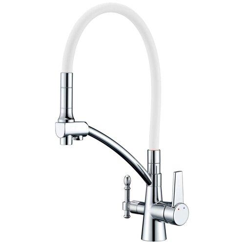 Фото - Смеситель для кухни (мойки) ZorG Sanitary ZR 338 YF хром/белый смеситель для кухни мойки zorg sanitary zr 320 yf 33 однорычажный