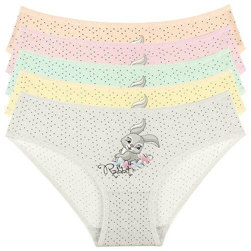 Купить Трусы для девочек 41885NT, Цвет: Микс, Размер: 4/5, 5шт. в упаковке, Donella, Белье и купальники