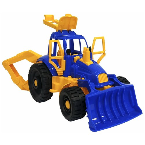 Купить Трактор Нордпласт с ковшом и грейдером (400), 43.7 см, Машинки и техника
