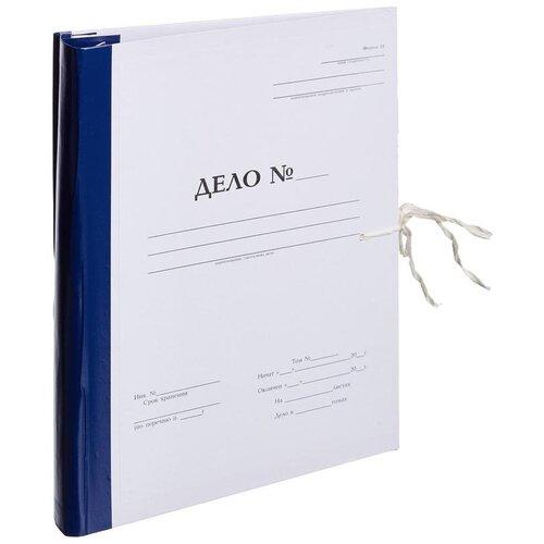 Купить Attache Папка архивная с гребешками на 2-х завязках Дело А4, бумвинил, 50 мм белый, Файлы и папки