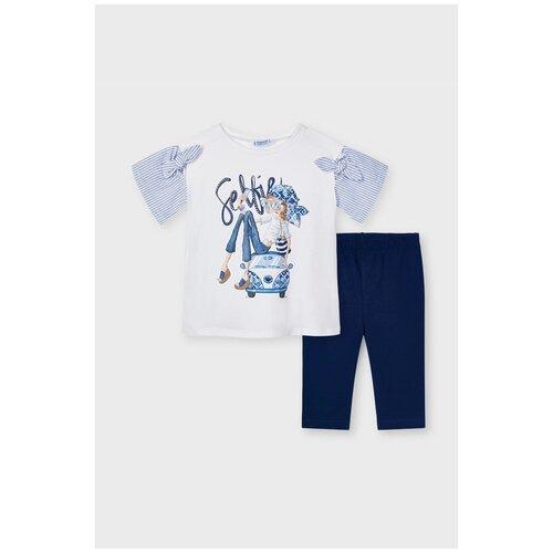 Комплект одежды Mayoral размер 5(110), темно-синий/белый комплект одежды mayoral размер 110 белый красный