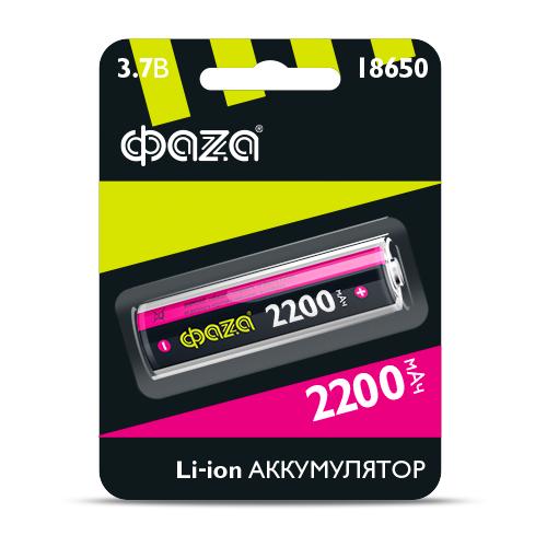 Фото - Аккумулятор Li-ion Фаzа 18650 BL1 2200mAh аккумулятор незащищенный sanyo ncr18650bf 18650 3400мач 3 7в