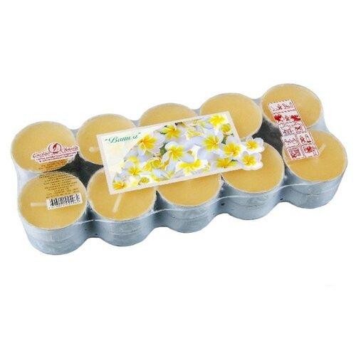 Набор ароматических свечей ВАНИЛЬ, 3.8х1.6 см (упаковка 20 шт.), Омский Свечной 001710-свеча