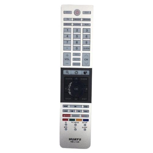 Фото - Пульт ДУ Huayu RM-L1328 для Toshiba, серебристый пульт ду huayu rm d759 для toshiba черный