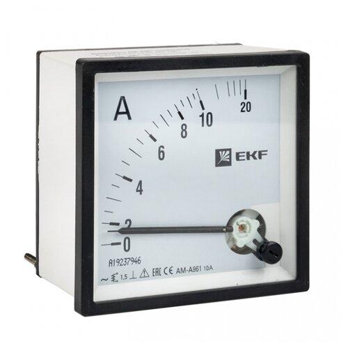 Амперметр для установки в щит EKF AMA-961-10