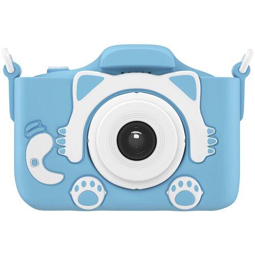 Фото - Фотоаппарат GSMIN Fun Camera Kitty с фронтальной селфи камерой и развивающей игрушкой для детей голубой фотоаппарат children s fun camera микки с wi fi красный