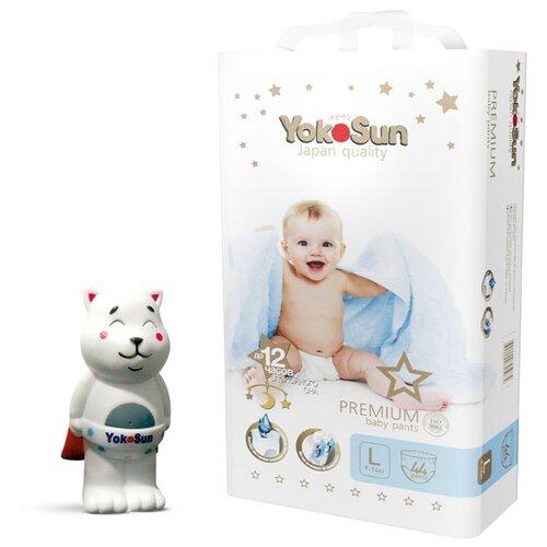 Фото - YokoSun трусики Premium L (9-14 кг) 44 шт + игрушка для ванной котик Йоко yokosun трусики xl 12 20 кг 76 шт игрушка для ванной котик йоко