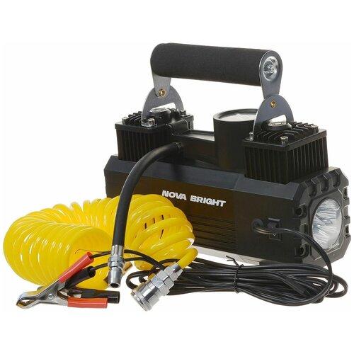 Автомобильный компрессор Nova Bright АК-65 черный
