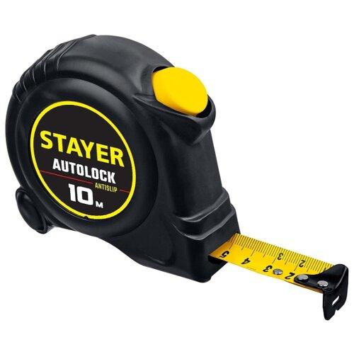 Фото - Измерительная рулетка STAYER 2-34126-10-25 25 мм x 10 м измерительная рулетка энкор рф2 10 25 25 мм x 10 м
