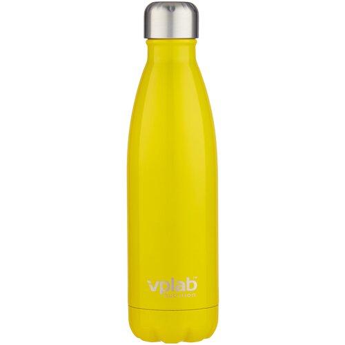 Термобутылка vplab Metal Water Thermo bottle, 0.5 л желтый недорого