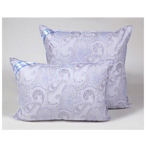 Подушка стеганная VESTA текстиль 70*70 см, искусственный лебяжий пух, ткань тик, полиэстер