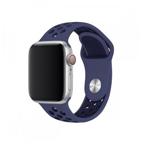 Сменный ремешок Nuobi Sport ver.1 для Apple Watch, Синий/черный 38/40 mm сменный ремешок nuobi для apple watch 38 40mm черный