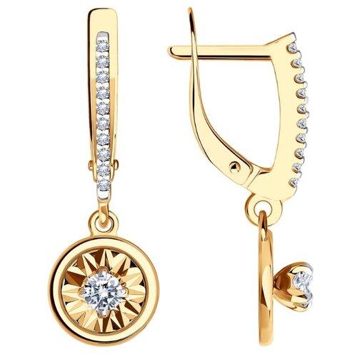 Diamant Серьги из золота с родированием с фианитами 51-121-01200-1