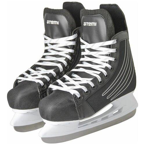 Хоккейные коньки ATEMI AHSK-21.01 Race черный р. 37