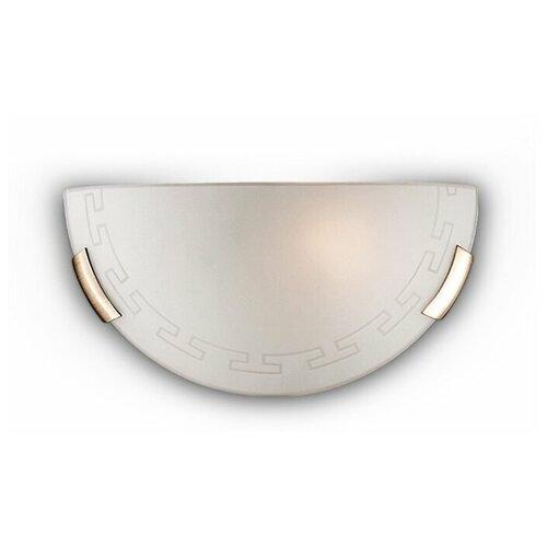Настенный светильник Сонекс Greca 061, E27, 100 Вт, кол-во ламп: 1 шт., цвет арматуры: бронзовый, цвет плафона: белый светильник без эпра сонекс greca 361 d 50 см e27