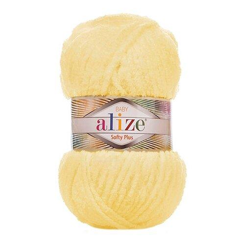 Купить Пряжа для вязания Alize 'Softy Plus' 100г 120м (100% микрополиэстер) (13 желтый), 5 мотков