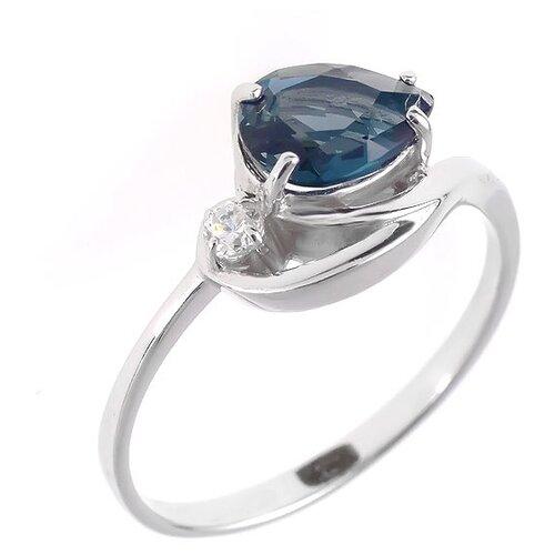 Фото - Balex Кольцо 1405936413 из серебра 925 пробы с топазом Лондон и фианитом, размер 17 element47 кольцо из серебра 925 пробы с топазами лондон r32560h 7 ko lt wg размер 17 25