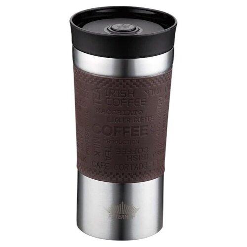 Термокружка Peterhof Travel Mug PH-12438, 0.38 л коричневый