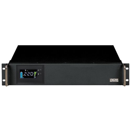 Интерактивный ИБП Powercom King Pro RM KIN-1500AP LCD черный