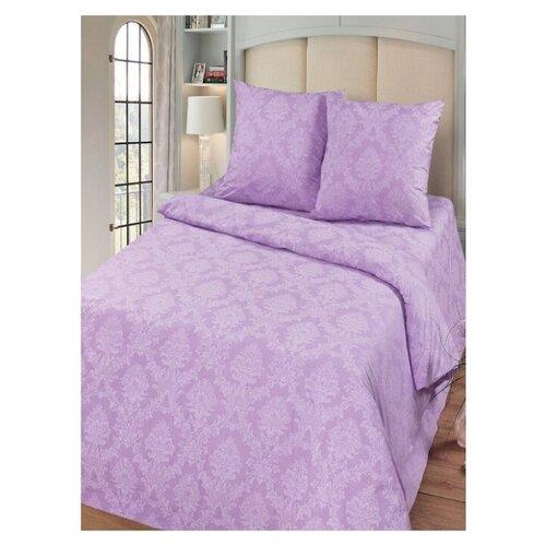 Комплект постельного белья Миланика, Аметист Жаккард, 2-спальное, тип ткани поплин, состав: хлопок 100%.