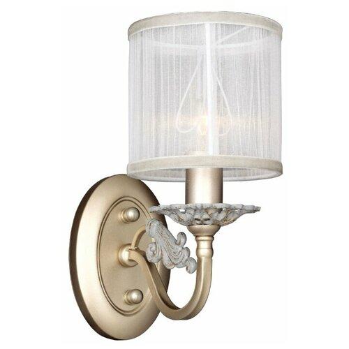 Настенный светильник Favourite Seraphima 2307-1W, E14, 40 Вт, кол-во ламп: 1 шт., цвет арматуры: золотой, цвет плафона: белый