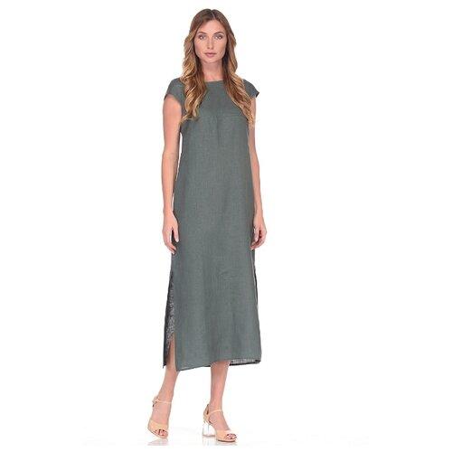 платье befree 1911097509 женское цвет зеленый 17 однотонный р р 48 l 170 Женское летнее платье из льна Россия Gabriela 5169-12 р.48