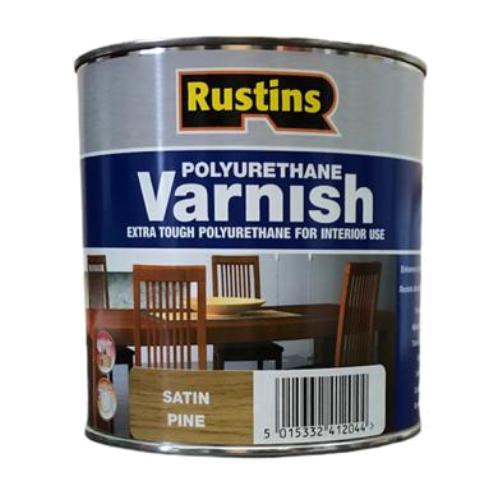 Лак Rustins Polyurethane Varnish Satin полуматовый полиуретановый сосна 1 л
