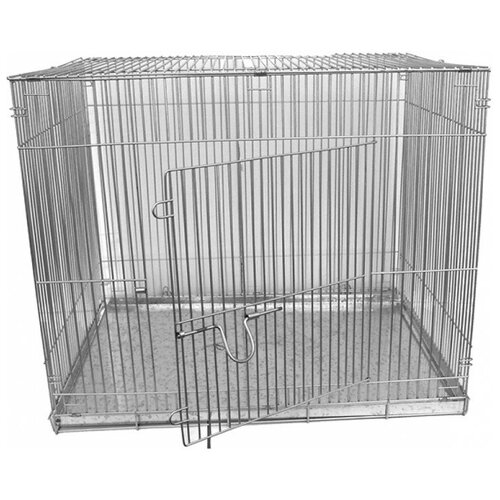 Клетка для собак Данко КлС-4 50х70х55 см серый