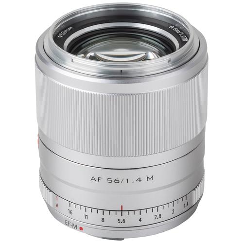 Фото - Объектив Viltrox AF 56mm f/1.4 EF-M серебристый объектив viltrox af 23mm f 1 4 ef m серебристый