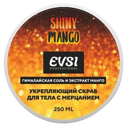 Купить EVSI Скраб для тела с мерцанием Shiny Mango Гималайская соль и Экстракт Манго, 250 мл