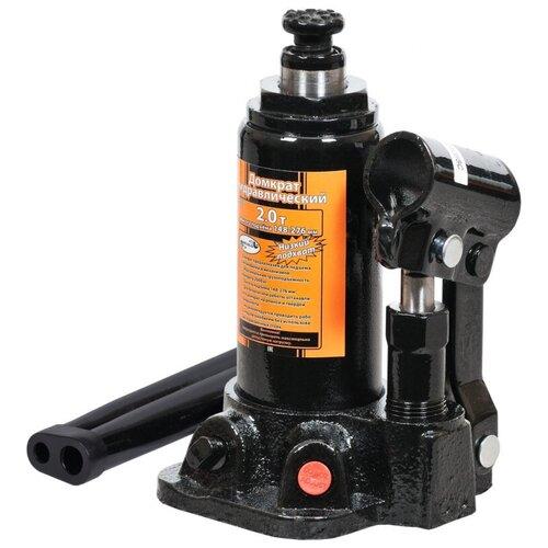 Домкрат бутылочный гидравлический АвтоDело 43020 (2 т) черный